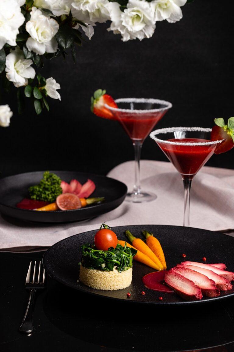 Walentynkowa fotograficzna sesja kulinarna Dworu Korona Karkonoszy